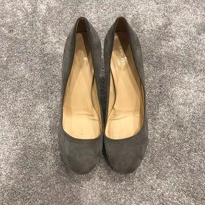 Kate Spade Dove Grey Suede Heels